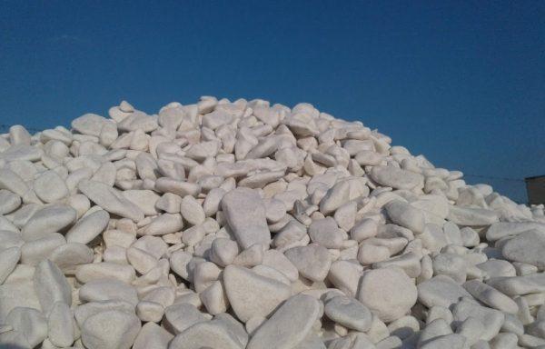 otoczaki śnieżnobiałe 10-60 mm Kamienie Mosina